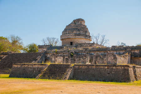 The Observatory at Chichen Itza. Mexico. Yucatan
