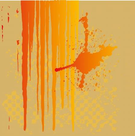 Bright splashes background vector art