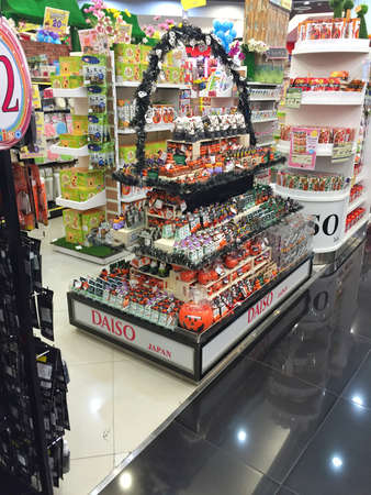 BANGKOK, THAILAND - OCTOBER 10: Halloween products inventory in a shop inside of Central Chaengwattana department store on October 10, 2016 in Bangkok, Thailand. Halloween is not popular festivity in Thailand.