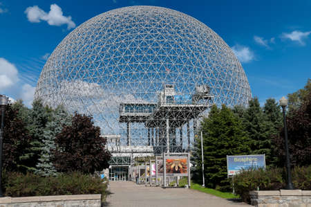 Montreal Biosphere on a sunny day, Canada