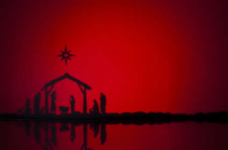Photo for Birth Jesus silhouette of the crib in Bethlehem - Royalty Free Image