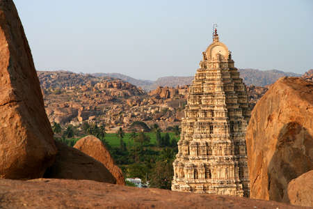 Impressive Virupaksha temple in Hampi, Karmataka, India