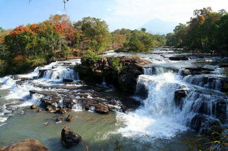 Beautiful Tad Lo waterfall on the Bolaven Plateau in Laos
