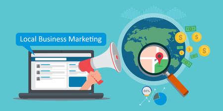 Ilustración de local business marketing vector illustration - Imagen libre de derechos