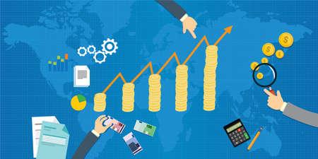 economic growth gross domestic product illustration