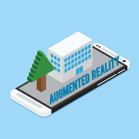 AR augmented reality concept illustration flat design