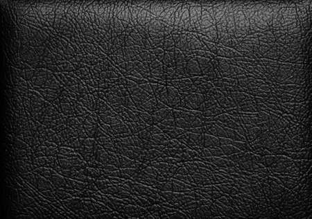 Closeup of seamless black leather texture の写真素材