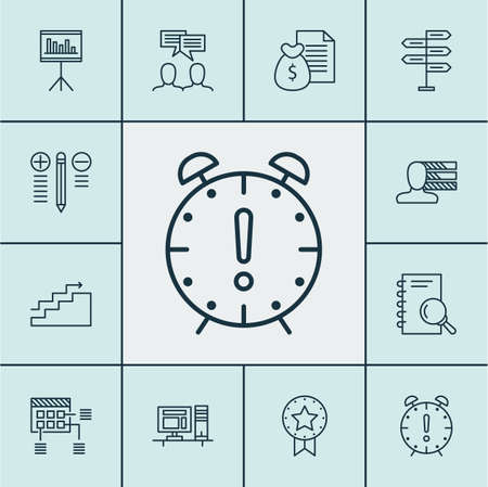 Set Of Project Management Icons On Decision Making, Computer And Personal Skills Topics. Editable Vector Illustration. Includes Making, Notebook, Discussion And More Vector Icons.