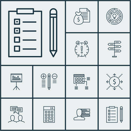 Set Of Project Management Icons On Personal Skills