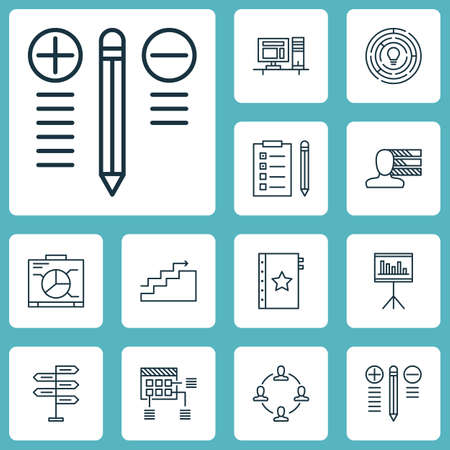 Set Of Project Management Icons On Decision Making, Opportunity And Schedule Topics. Editable Vector Illustration. Includes Chart, Dashboard, Schedule And More Vector Icons.