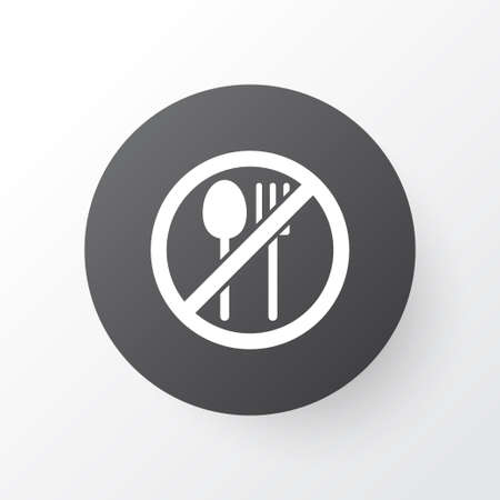 Not Eating Icon Symbol. Premium Quality Isolated Forbidden Meal Element In Trendy Style.