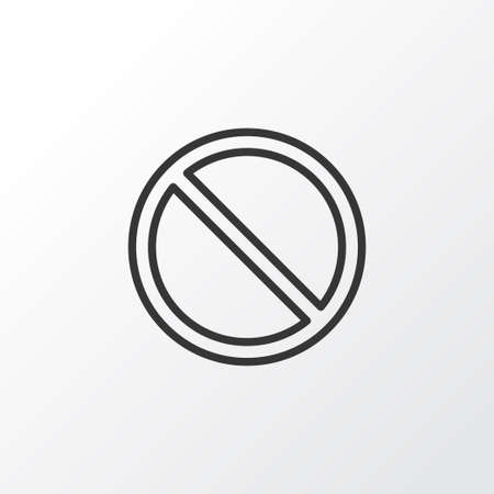 Premium Quality Isolated Obstacle Element In Trendy Style.  Access Denied Icon Symbol.