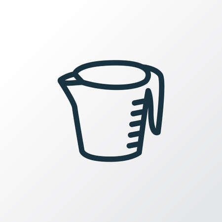 Illustration for Measuring cup icon line symbol. Premium quality isolated kitchen jug element in trendy style. - Royalty Free Image