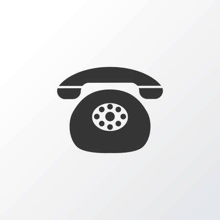 Landing telephone icon symbol. Premium quality isolated old phone element in trendy style.