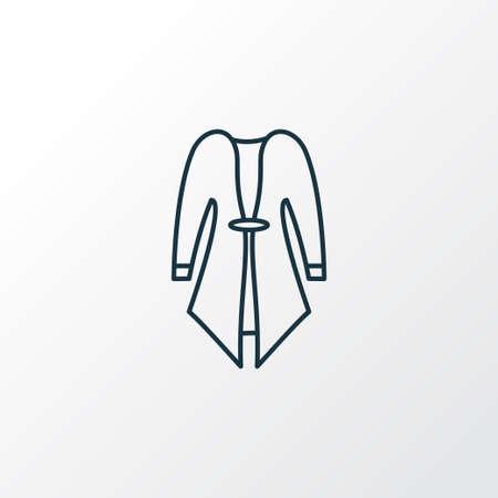 Cardigan icon line symbol. Premium quality isolated overcoat element in trendy style.