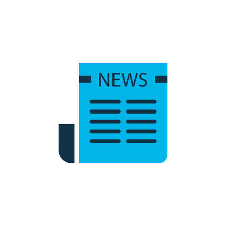Newspaper icon colored symbol. Premium quality isolated daily press element in trendy style.