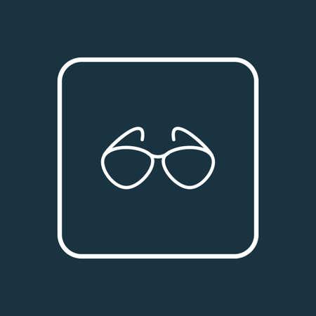 Sunglasses icon line symbol. Premium quality isolated eyeglasses element in trendy style.