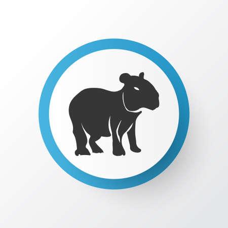 Illustration pour Capybara icon symbol. Premium quality isolated gerbil element in trendy style. - image libre de droit