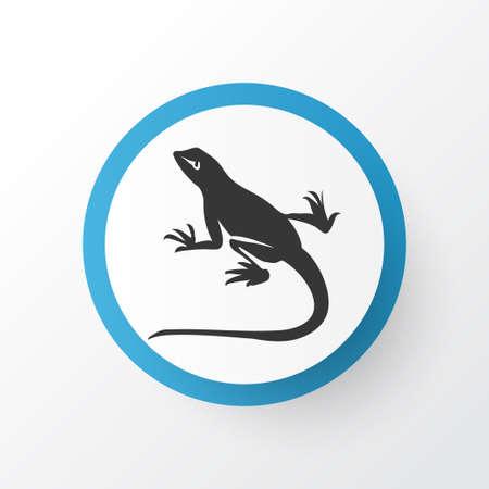 Lizard icon symbol. Premium quality isolated gecko element in trendy style.