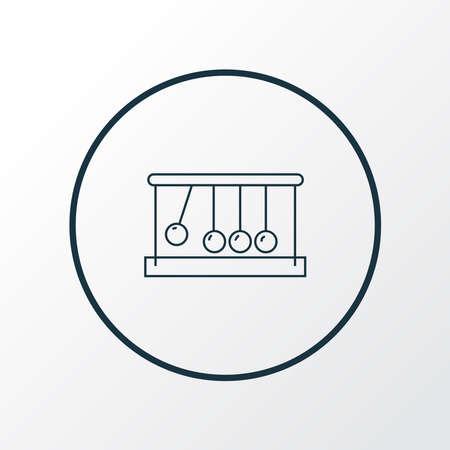 Kinetics icon line symbol. Premium quality isolated newton cradle element in trendy style.