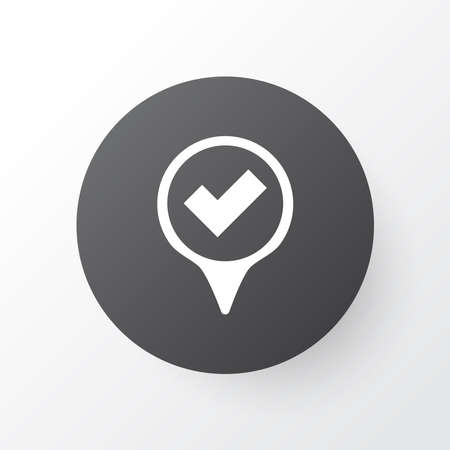 Illustration pour Yes mark icon symbol. Premium quality isolated checked pointer element in trendy style. - image libre de droit