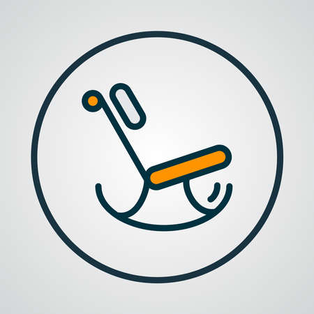 Rocking Chair Icon Colored Line Symbol