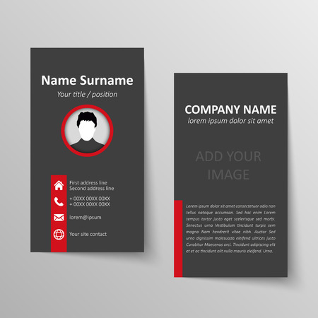 Modern simple business card vector template.