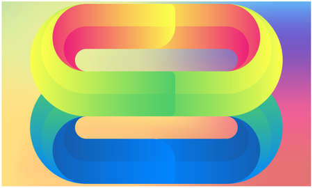 Illustration pour closed loop in a abstract rainbow background - image libre de droit