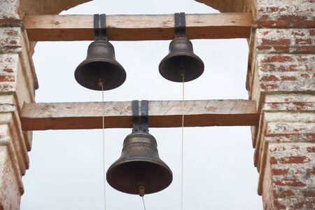 Foto für Ancient church bells on belfry tower  - Lizenzfreies Bild