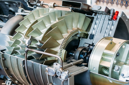 Photo pour Turbine with blades in the section of the construction industry mechanism - image libre de droit
