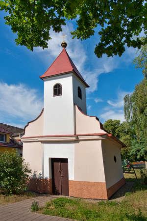 Photo pour Gothic church in Seletice village. Czech Republic. - image libre de droit