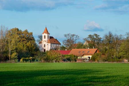 Photo pour Panoramic view of Hradiste village. Czech Republic. - image libre de droit