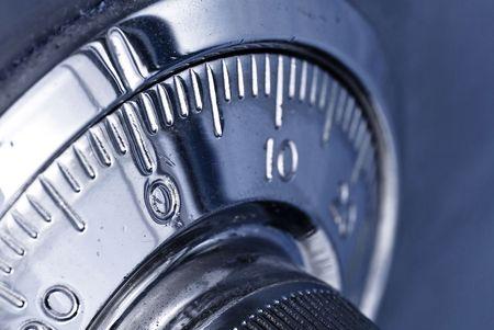 Photo pour safe lock combination closeup - image libre de droit