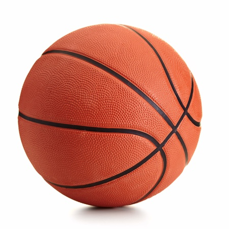 Basketball ball over white background