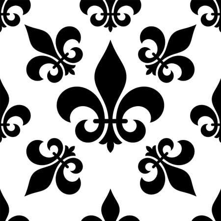 Fleur De Lis Seamless Pattern Fleur De Lys Or Flower De
