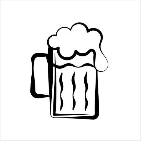 Beer Mug Icon Vector Art Illustration