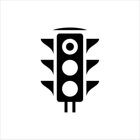 Illustration for Traffic Light Icon, Traffic Control Light Vector Art Illustration - Royalty Free Image
