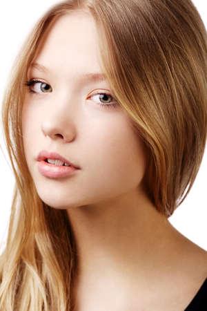 Foto de beautiful teen girl portrait isolated on white - Imagen libre de derechos