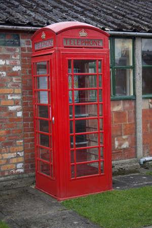 Red public phone box