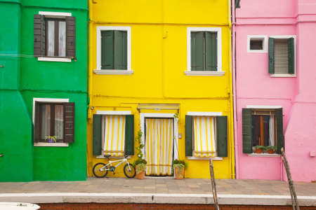 Colorful houses at Burano, Venice
