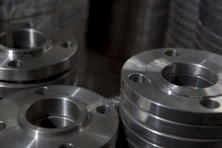 Photo pour Flange stainless steel for valve - image libre de droit