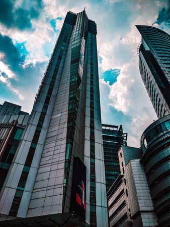 Photo pour Modern building structurr in Kuala Lumpur - image libre de droit