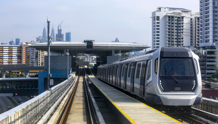 Malaysia MRT (Mass Rapid Transit) train, a transportation for future generation. MRT also bring Malaysia as a developed country.