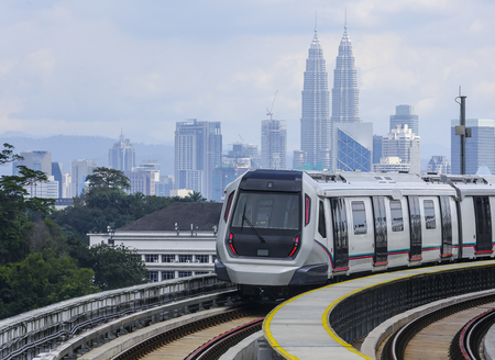 Malaysia MRT (Mass Rapid Transit) train, a transportation for future generation.