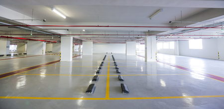Photo for Empty indoor car parking space / lots. - Royalty Free Image