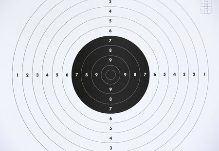 Photo for Close up of a paper target for shooting practice at shooting range. Crime or marketing concept. - Royalty Free Image