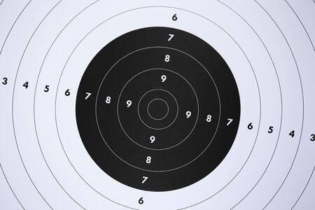 Photo pour Close up of a paper target for shooting practice at shooting range. Crime or marketing concept. - image libre de droit
