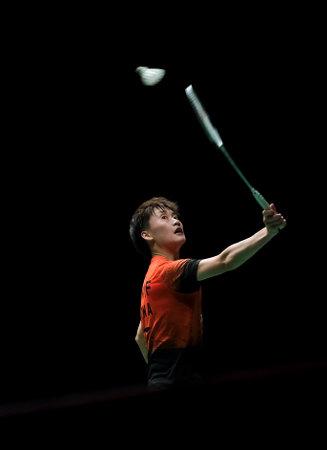 Photo pour KUALA LUMPUR, MALAYSIA - JANUARY 12, 2020 : Chen Yu Fei of China in action during women's singles badminton tournament, Perodua Malaysia Masters 2020 at the Axiata Arena. - image libre de droit