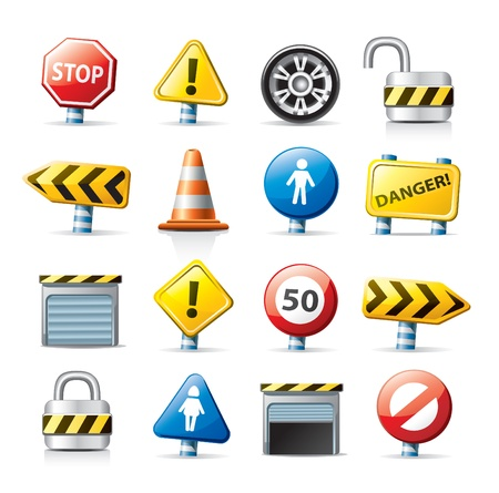 web icons - traffic signs