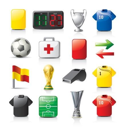 Ilustración de football icons - Imagen libre de derechos